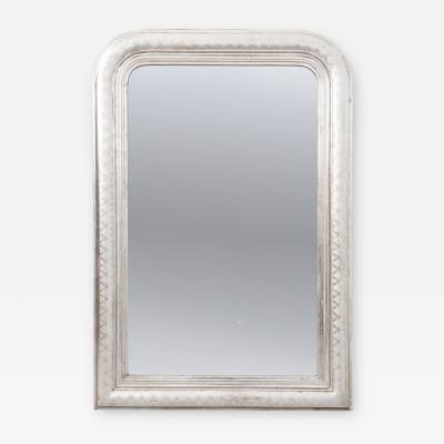 French 19th Century Louis Philippe Style Silver Gilt Mirror