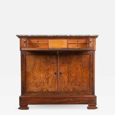 French 19th Century Louis Philippe Walnut Drop Front Desk