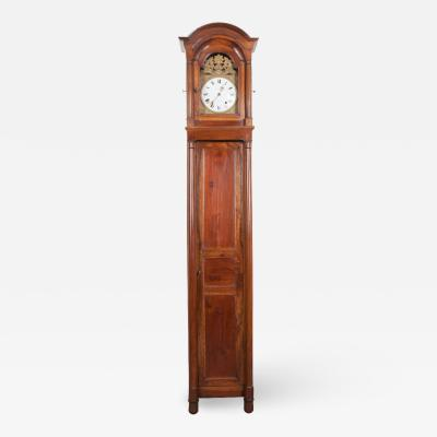 French 19th Century Louis Philippe Walnut Tall Case Clock