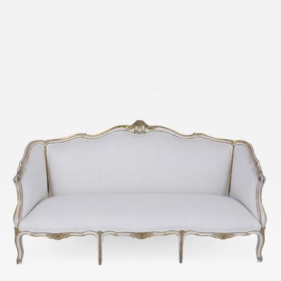 French 19th Century Louis XV Gilt Painted Sofa