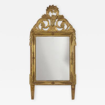 French 19th Century Louis XVI Style Gilt Mirror