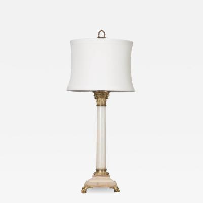 French 19th Century Louis XVI Style Marble Lamp