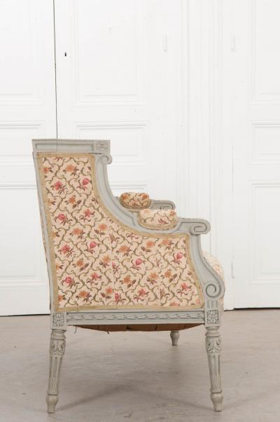 French 19th Century Louis XVI Style Painted Canap