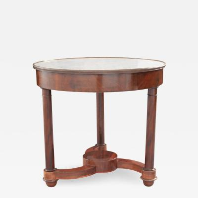 French 19th Century Mahogany Empire Center Table
