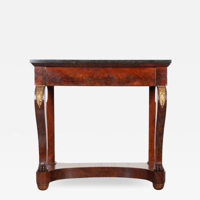 French 19th Century Mahogany Empire Style Console