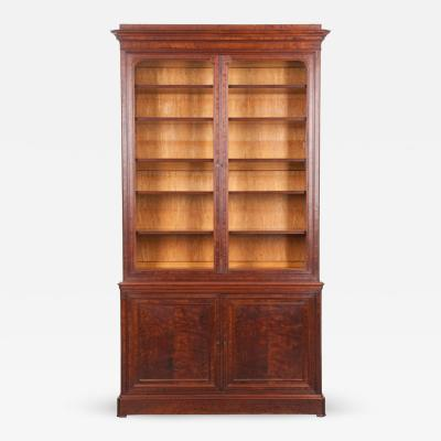 French 19th Century Mahogany Louis Philippe Biblioth que