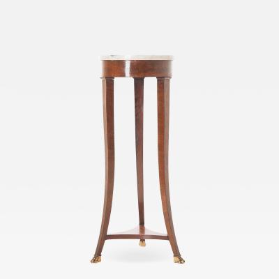 French 19th Century Mahogany Marble Top Table