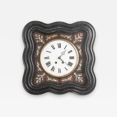 French 19th Century Napoleon III Inlay Wall Clock