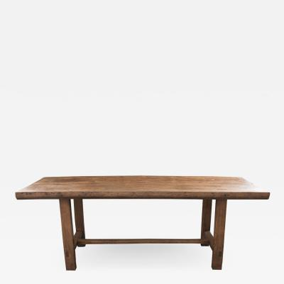 French 19th Century Oak Farmhouse Trestle Table