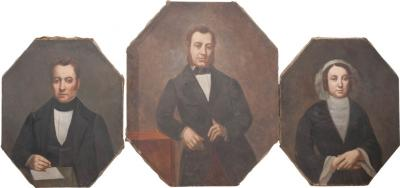 French 19th Century Oil Portrait Paintings
