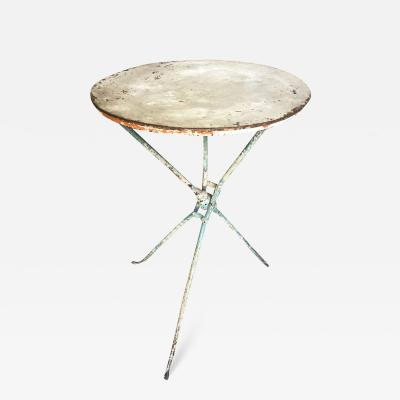 French 19th Century Painted Iron Bistro Table
