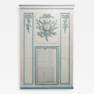 French 19th Century Painted Trumeau