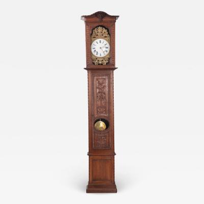 French 19th Century Provincial Horloge Case Clock
