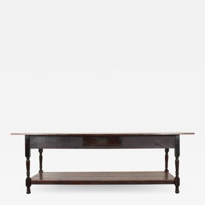 French 19th Century Provincial Walnut Drapery Table