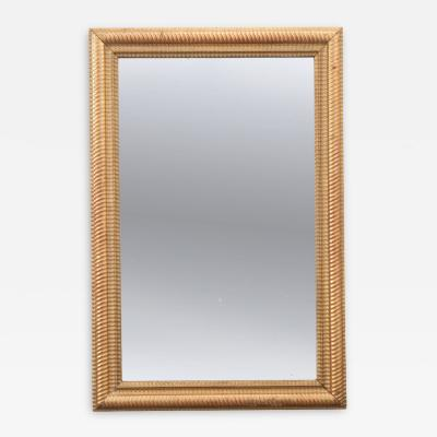 French 19th Century Rectilinear Gold Gilt Mirror