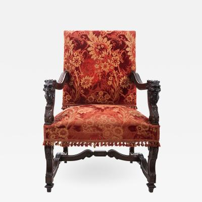French 19th Century Renaissance Fauteuil