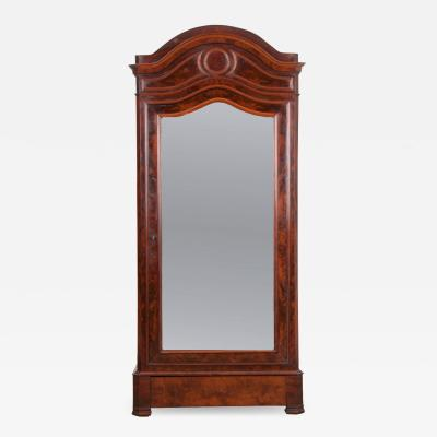 French 19th Century Restauration Style Mahogany Armoire