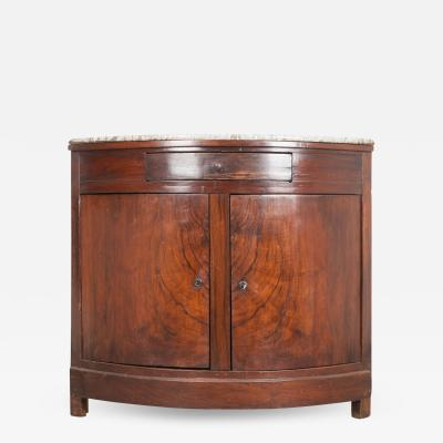 French 19th Century Rosewood Demilune Corner Buffet