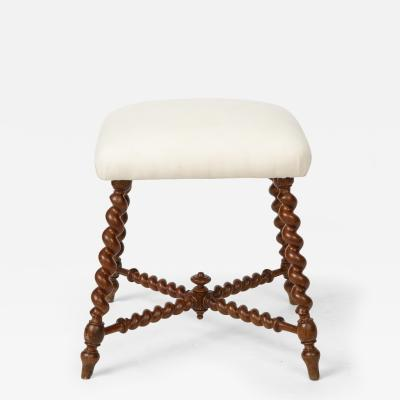 French 19th Century Stained Oak Stool