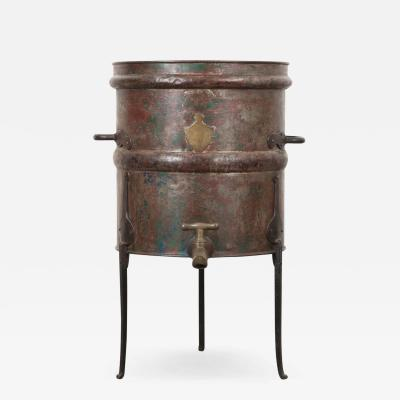 French 19th Century Steel Jura Wine Barrel