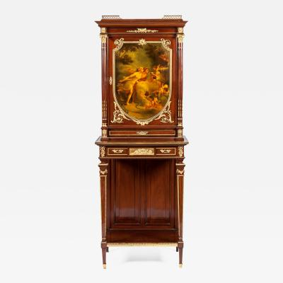 French 19th Century Vernis Martin Cabinet with Ormolu Mounts
