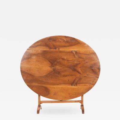 French 19th Century Walnut Vendange Table