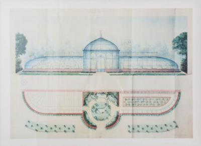 French 20th Century Framed Architectural Orangerie Print