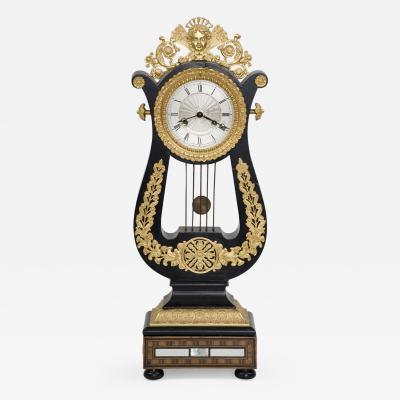 French 8 Day Gilded Mantle Clock Circa 1870