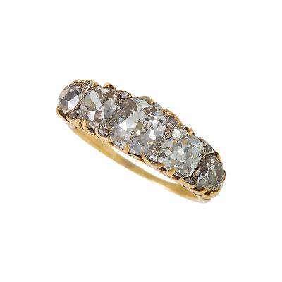 French Antique Five Stone Diamond Ring