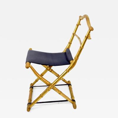 - French Antique Napoleon III Folding Chair