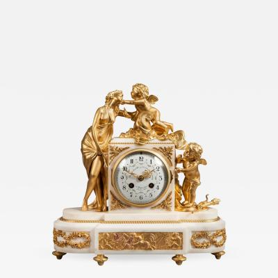 French Antique Ormolu Mantle Clock