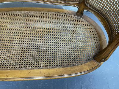 French Antique Style Caned Loveseat