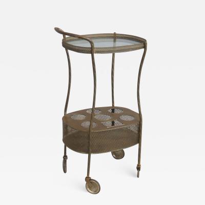 French Art Deco Brass Bar Cart