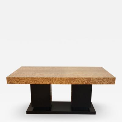 French Art Deco Cubist Extension Dining Table