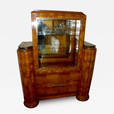 French Art Deco Display Cabinet Vitrine Moderne