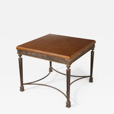 French Art Deco Iron Table