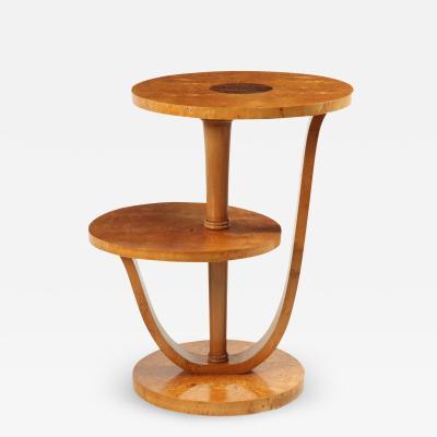 French Art Deco Karelian Birch Occasional Table c1925