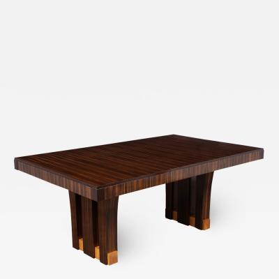 French Art Deco Macassar Dining Table