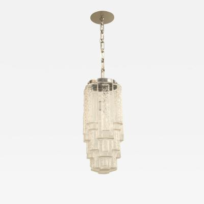 French Art Deco Molded Glass Lantern
