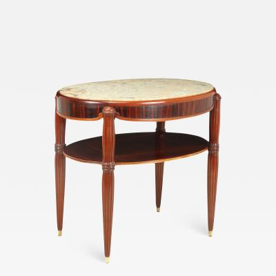 French Art Deco Occasional table with Marble Top