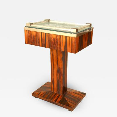 French Art Deco Palisander Wood End Table