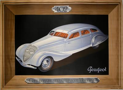 French Art Deco Period Poster for Peugeot 1937