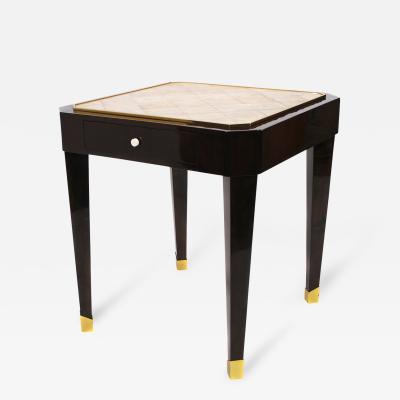 French Art Deco Period Shagreen Top Mahogany Table