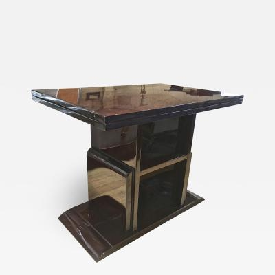 French Art Deco Pure Console Folding into a Dining Table