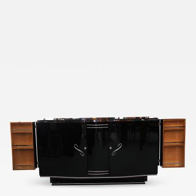 French Art Deco Sideboard with Fold Out Bar ca 1930