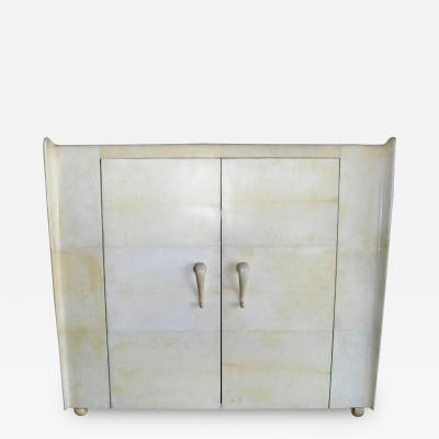 French Art Deco Style Parchment Armoire
