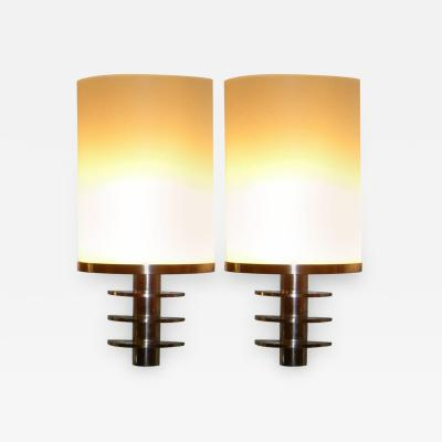 French Art Deco Theater Style Industrial Sconces