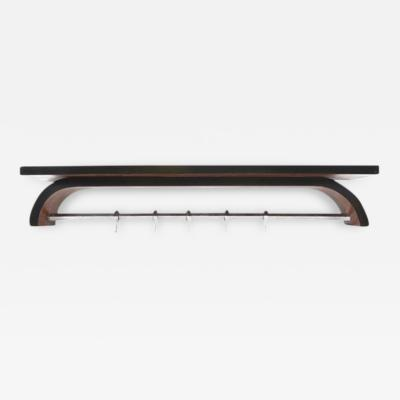 French Art Deco Wall Coat Rack