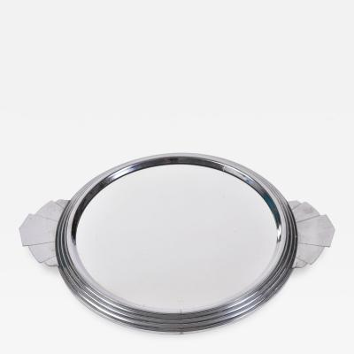 French Art Deco mirrored tray
