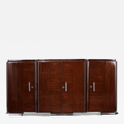 French Art Deco style Macassar Wood Buffet
